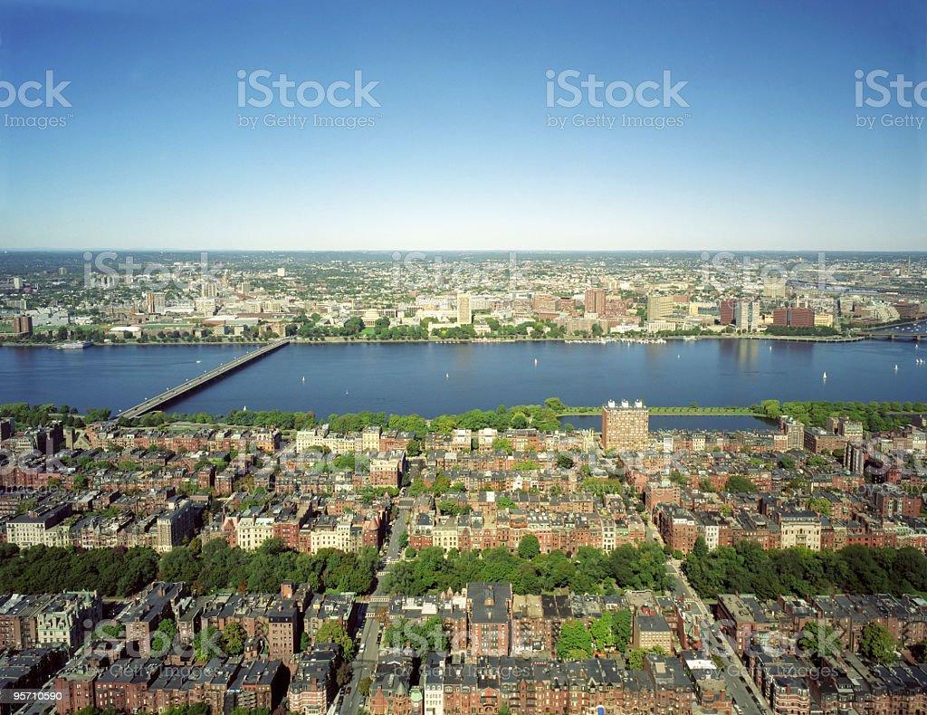 Boston's Charles River royalty-free stock photo