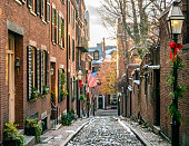 Acorn Street at Christmas Time: Classic \
