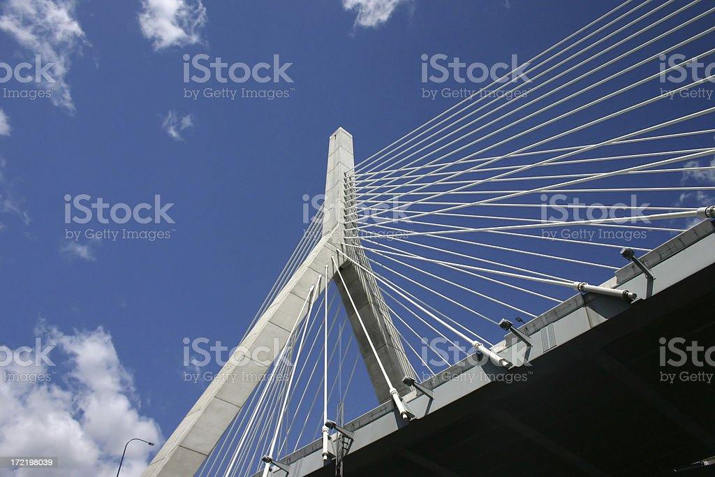 Boston's Leonard Zakim Bridge stock photo