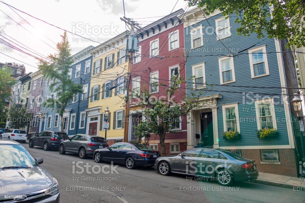 Boston's North End neighborhood stock photo