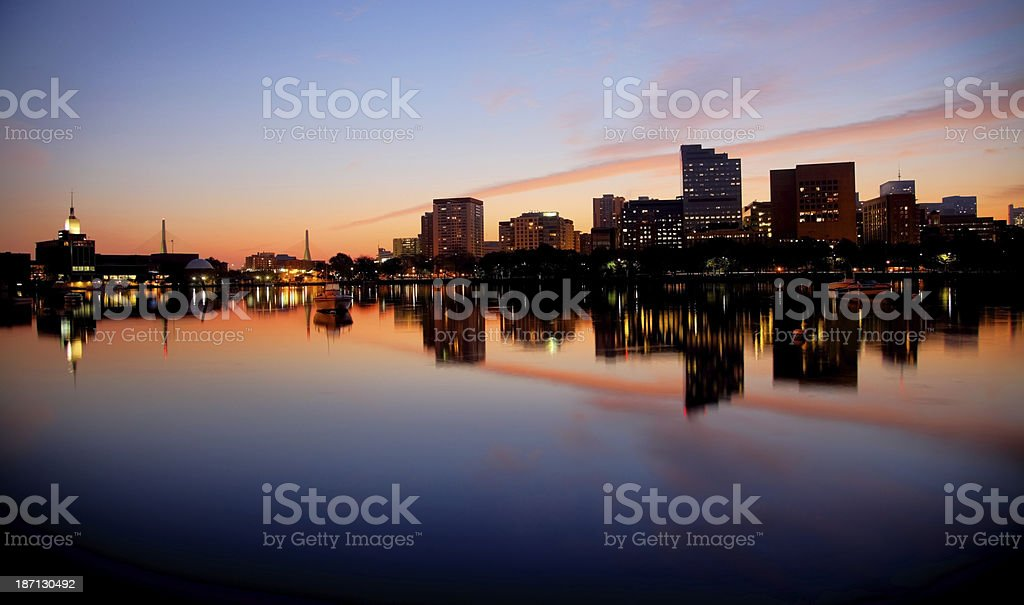 Boston's West End  Skyline Reflection royalty-free stock photo