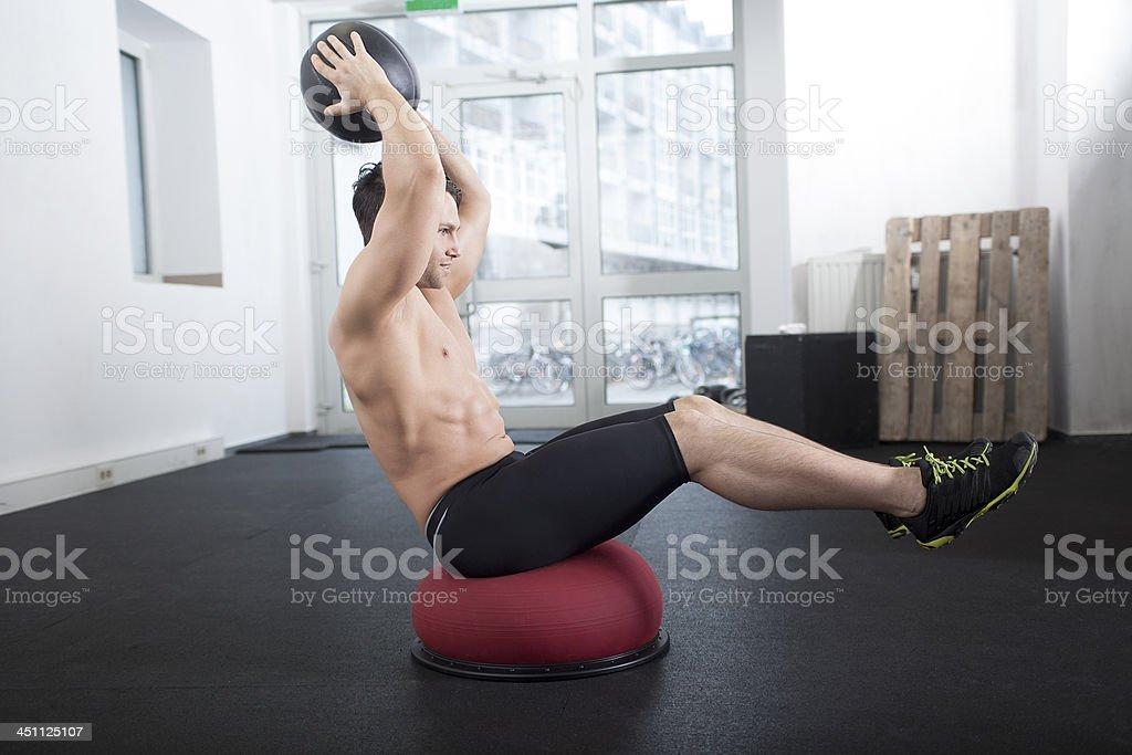 Bosu Ball Core Exercise stock photo