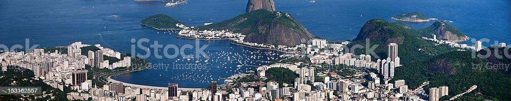Botafogo Bay in Rio de Janeiro royalty-free stock photo