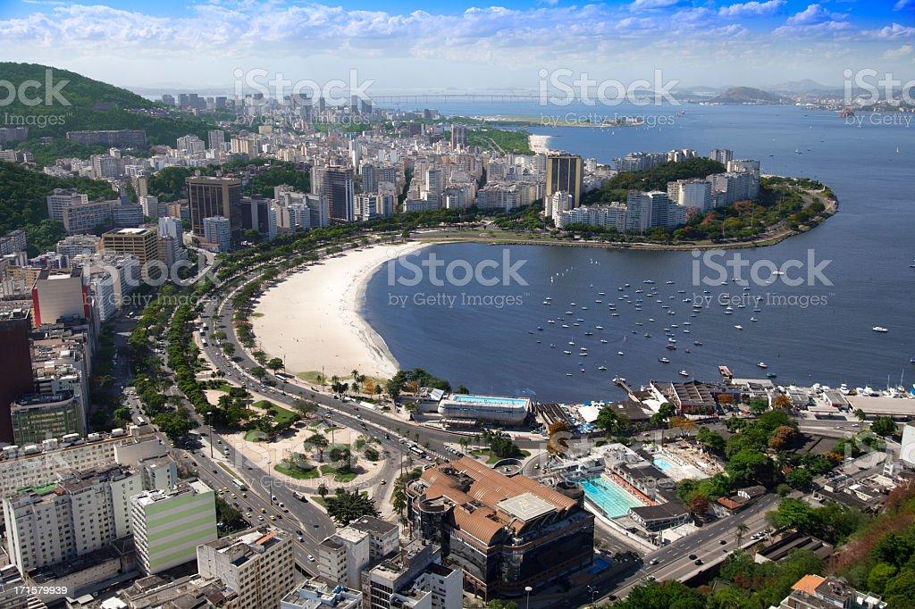 Botafogo Beach in Rio de Janeiro stock photo