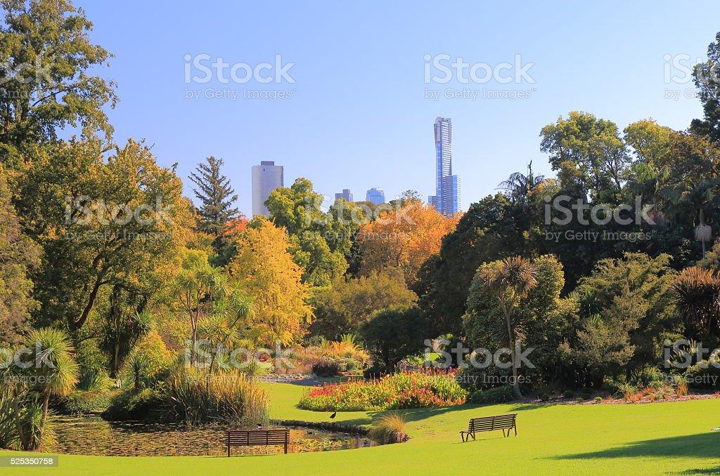 Botanic Gardens Melbourne Australia stock photo