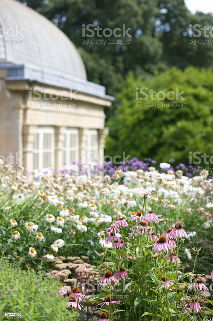 Botanical Garden and old Conservatory royalty-free stock photo