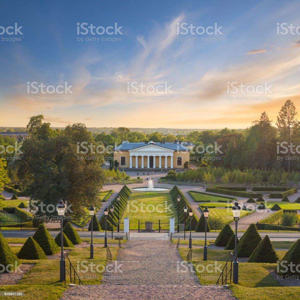 Botanical gardens of Uppsala stock photo