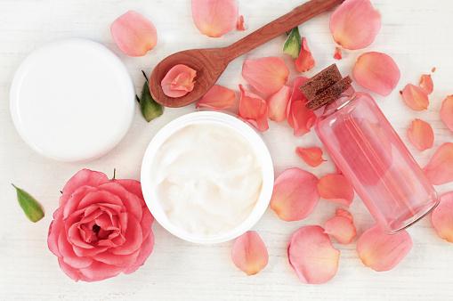 istock Botanical Rose Skincare Cosmetics 645045206