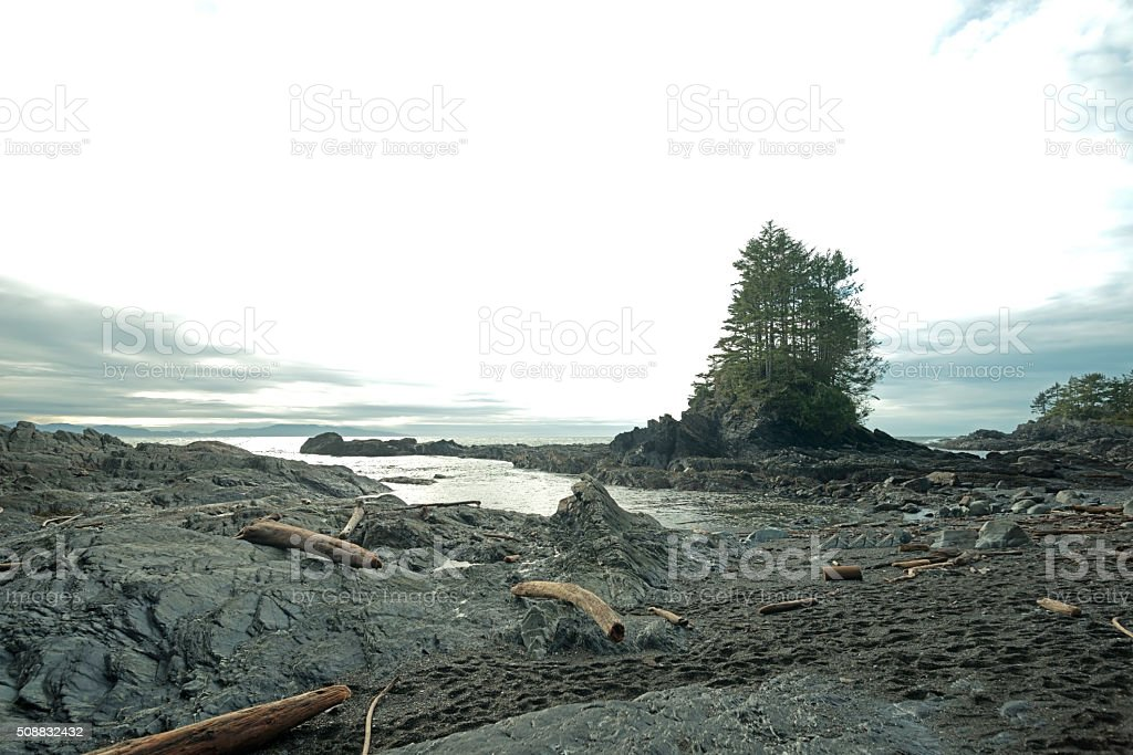 Botany Bay view in Afternoon, Port Renfrew stock photo