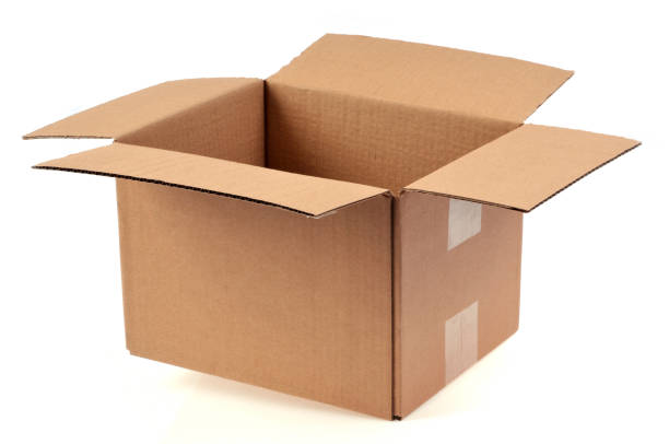 boîte en carton vide et ouverte - puste pudełko zdjęcia i obrazy z banku zdjęć