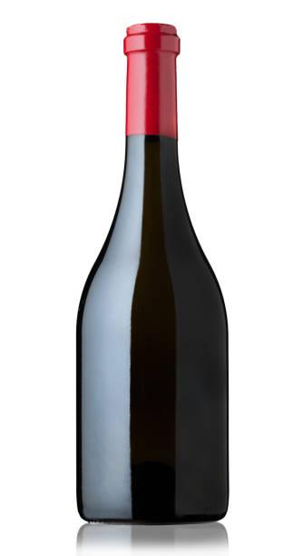 botella de vino tinto - foto de stock