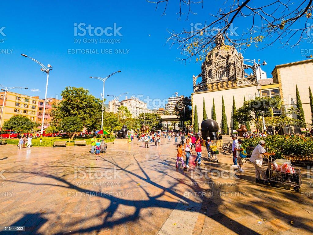 Botero Plaza in Medellin, Colombia stock photo