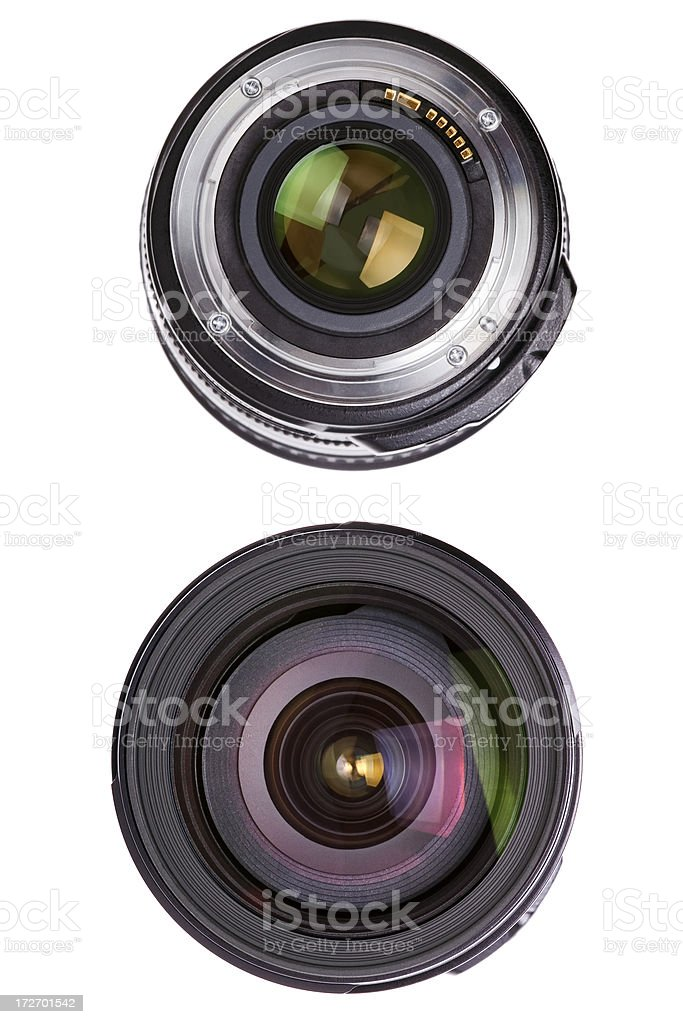 both ends of a lens stock photo