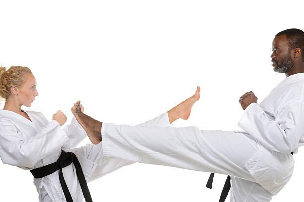 Both Kicks stock photo