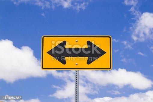 istock Both ways street sign 1124287887