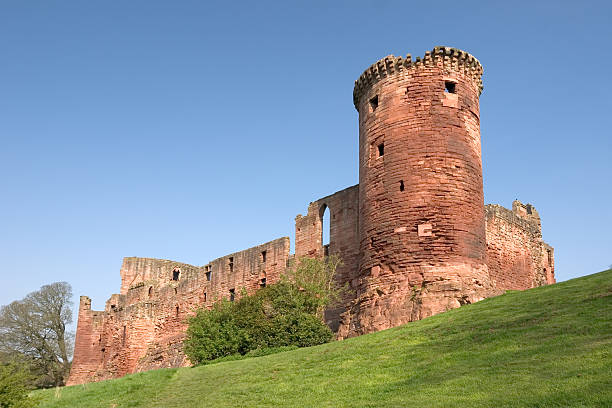 Bothwell Castle stock photo