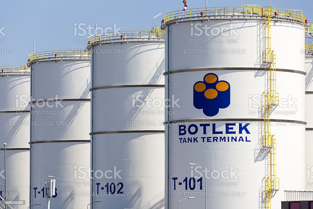Botlek Tank Terminal Storage tanks royalty-free stock photo