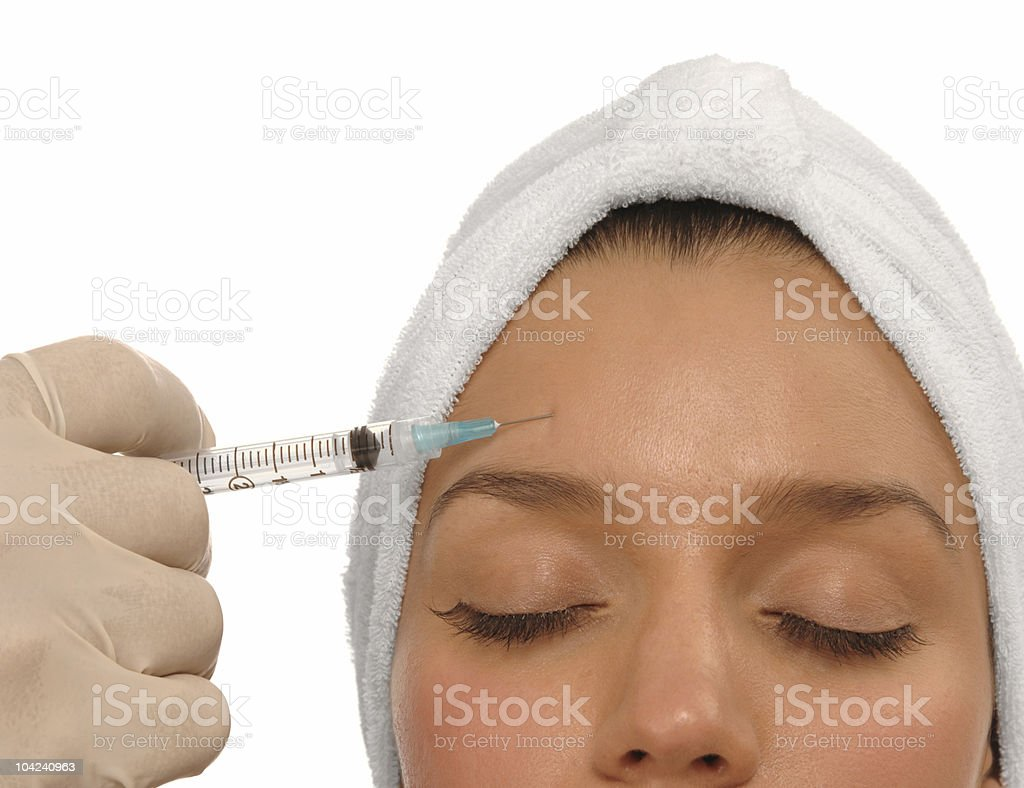Botox injection royalty-free stock photo