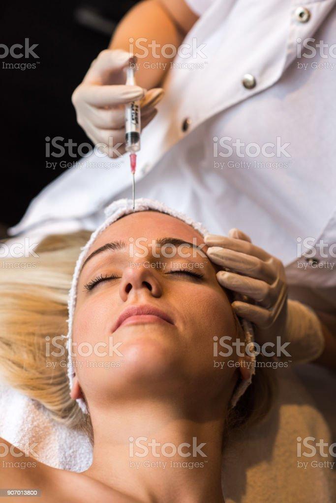 Botox therapy stock photo