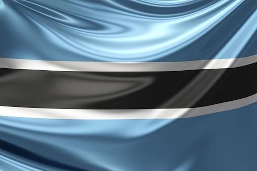 istock Botswana Flag. 3d illustration 508498728