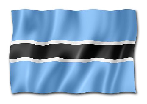 istock Botswana flag isolated on white 1053953318