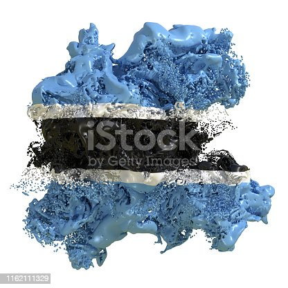 istock Botswana flag liquid 1162111329