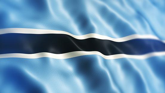 istock Botswana Flag 1133189006