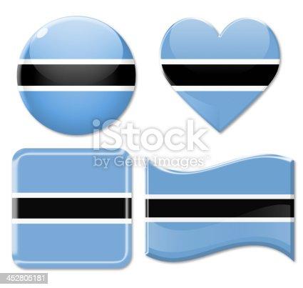 istock Botswana Flags & Icon Set 452805181
