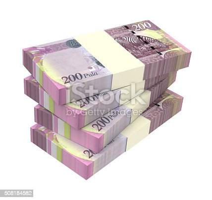 istock Botswana pula bills isolated on white background. 508184582