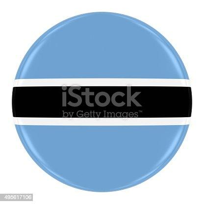 istock Botswanan Flag Badge 495617106