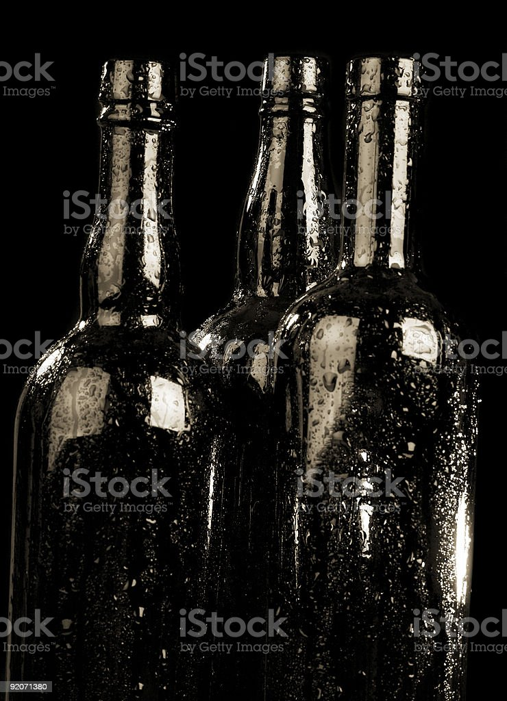 Bottle and drops royalty-free stock photo