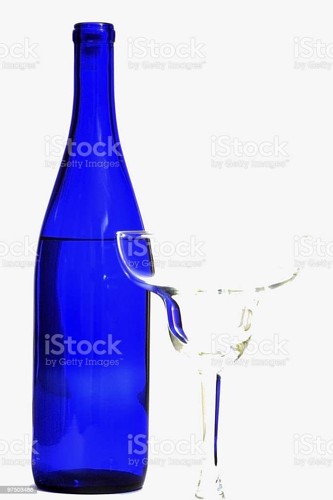 Bottle and Glass 1 royalty-free stock photo
