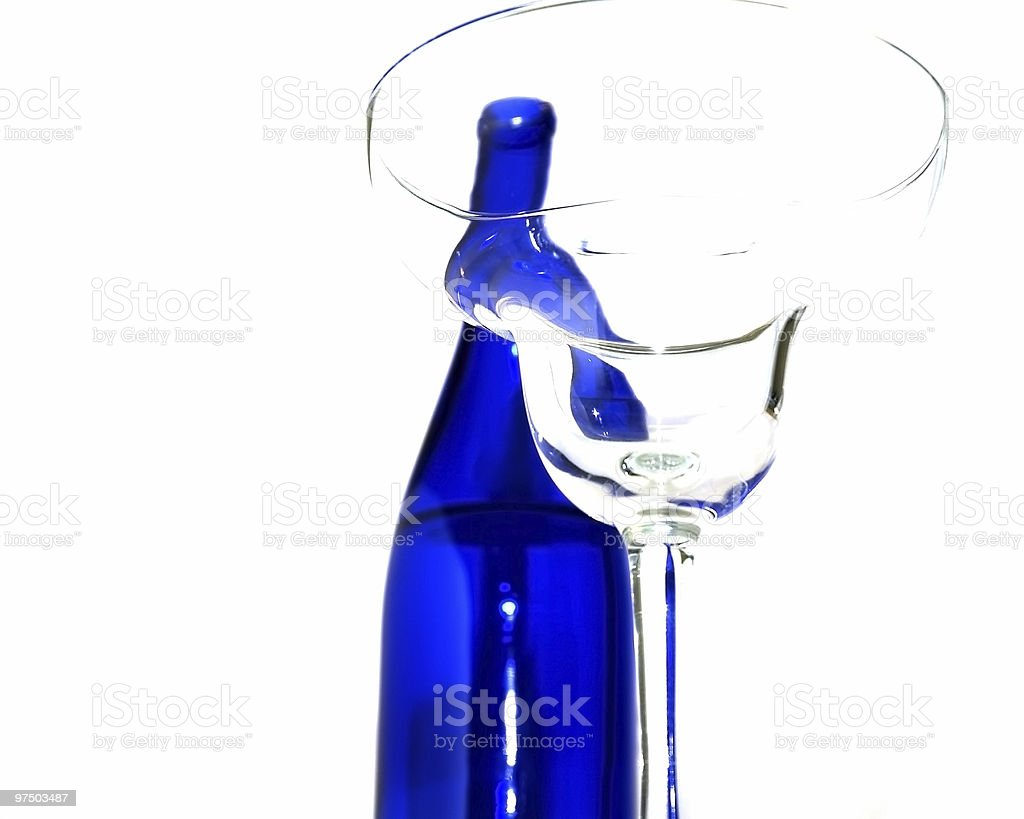 Bottle and Glass 2 royalty-free stock photo