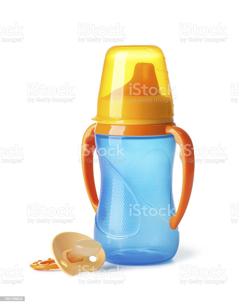 bottle and pacifier royalty-free stock photo