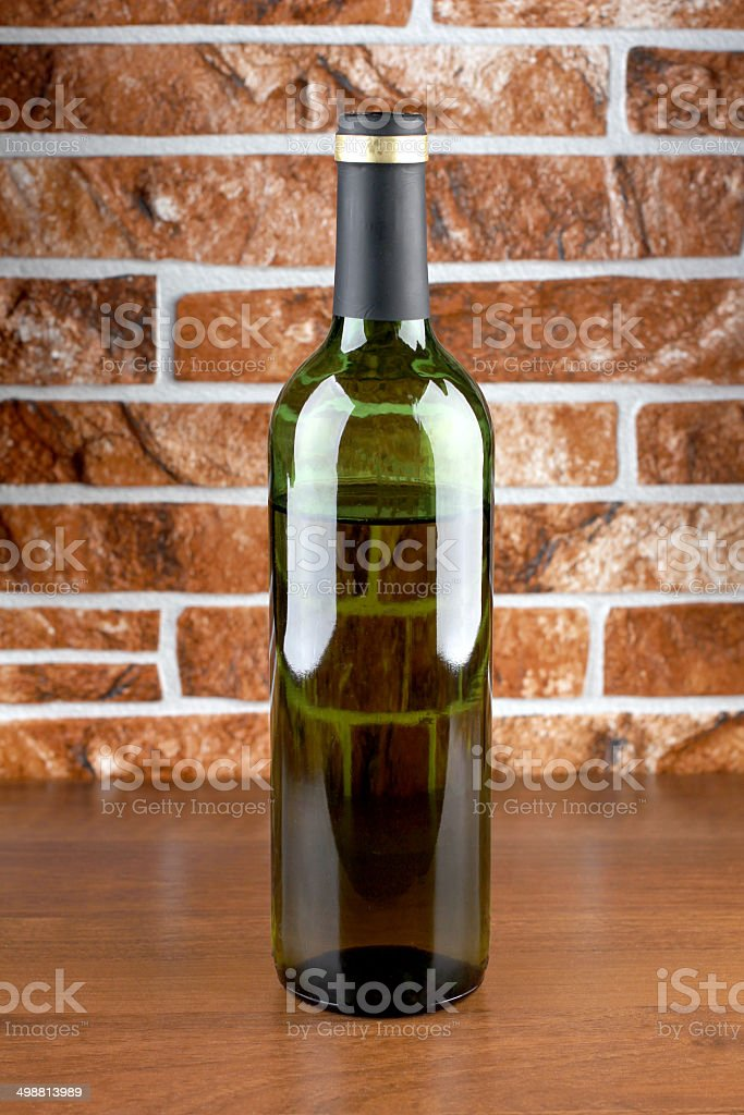 Bottle and wall royalty-free stock photo