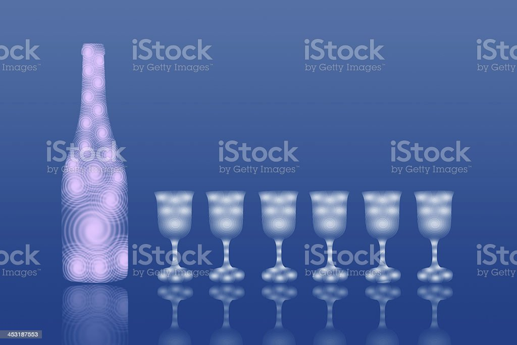 Bottle and wineglass royalty-free stock photo