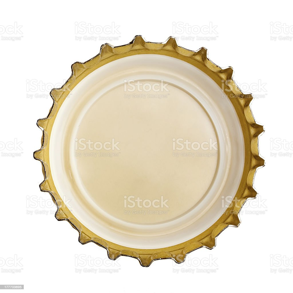 bottle cap isolated on white royalty-free stock photo