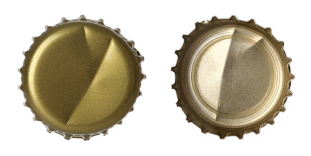 Bottle Cap Used Bottle cap front and back view. bottle cap stock pictures, royalty-free photos & images