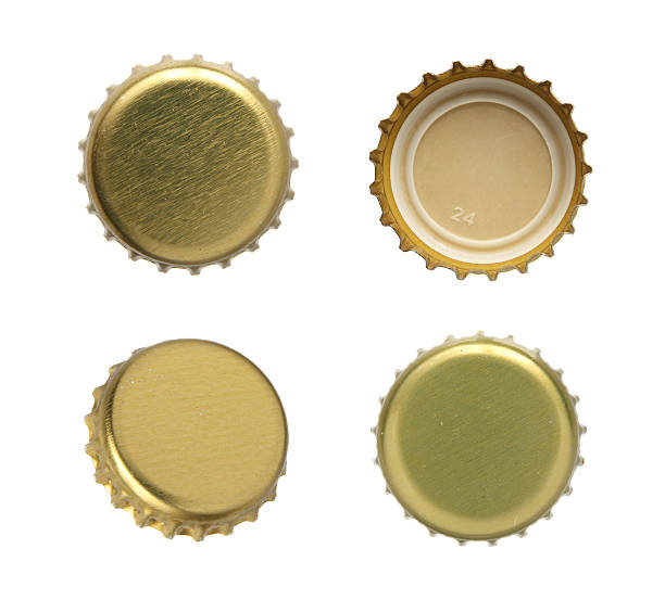 Bottle cap. Set of beer caps on a white background. bottle cap stock pictures, royalty-free photos & images