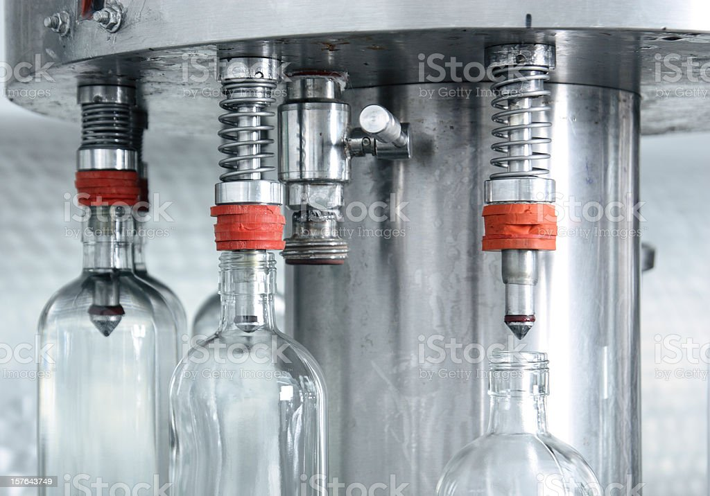 Bottle filling. stock photo