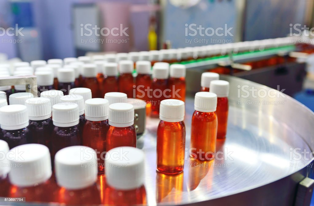 Bottle Filling stock photo