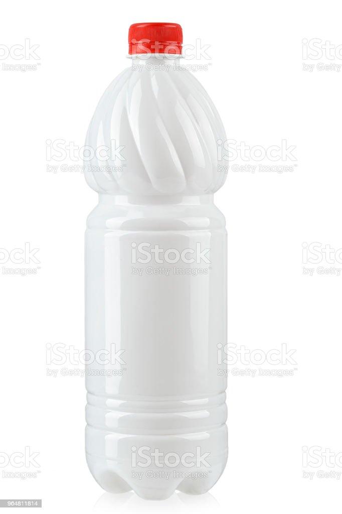 bottle for kvas isolated on white background. royalty-free stock photo