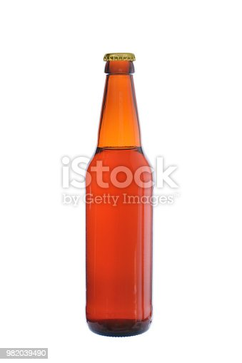 1073474208istockphoto bottle from dark glass filled with beer and closed by a metal cover 982039490