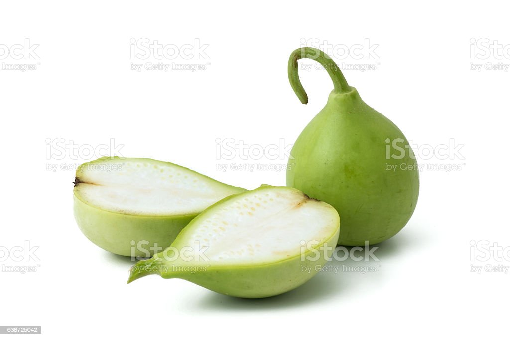 bottle gourd or calabash stock photo