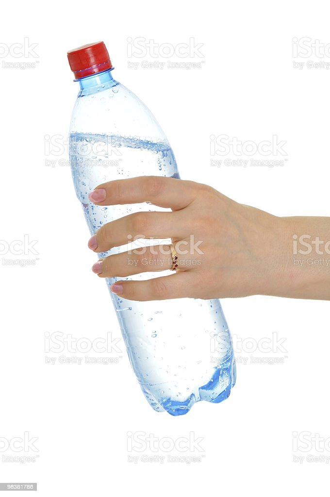 Bottle in hand royalty-free stock photo