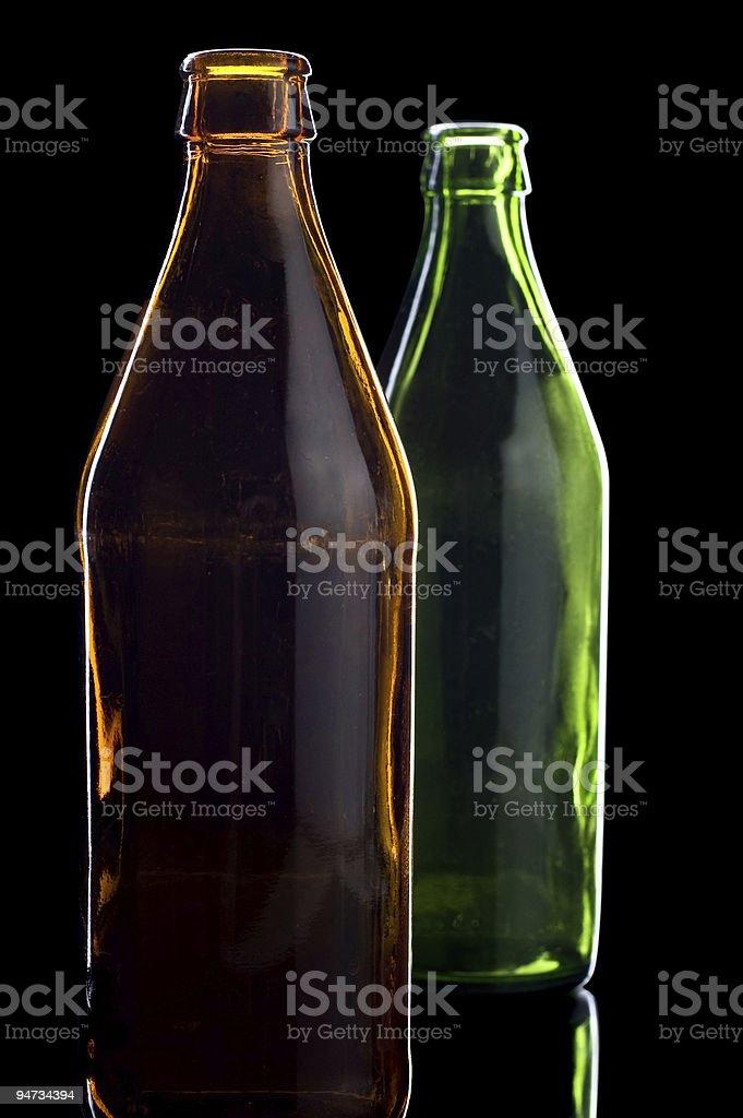 bottle isolated on black royalty-free stock photo