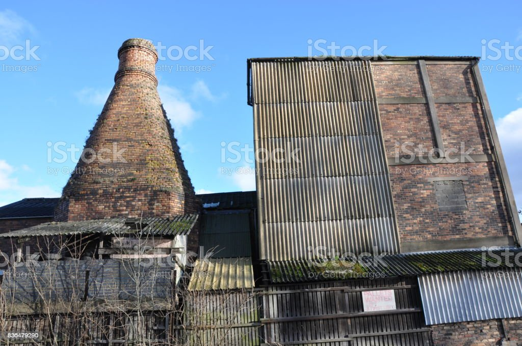 Bottle kiln and factory stock photo