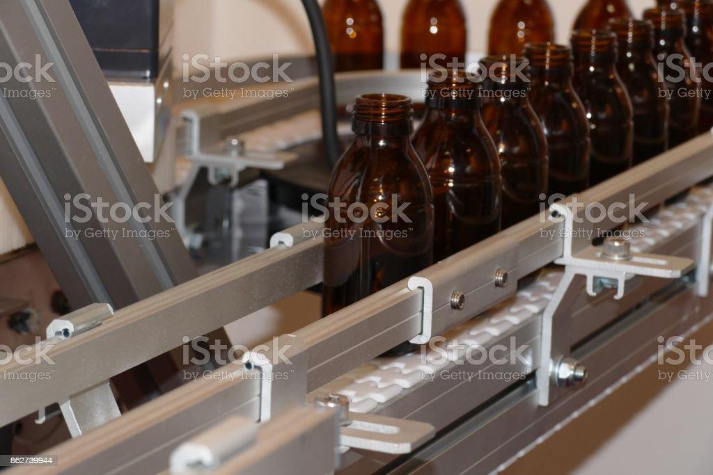 Bottle line stock photo