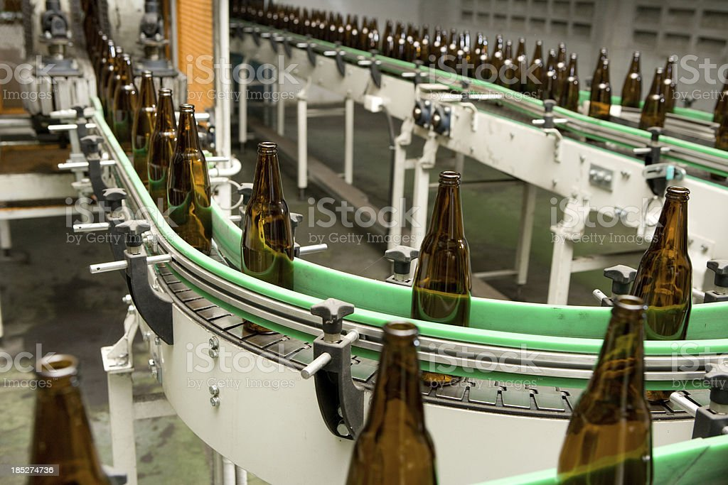 Bottle Manufacturing royalty-free stock photo