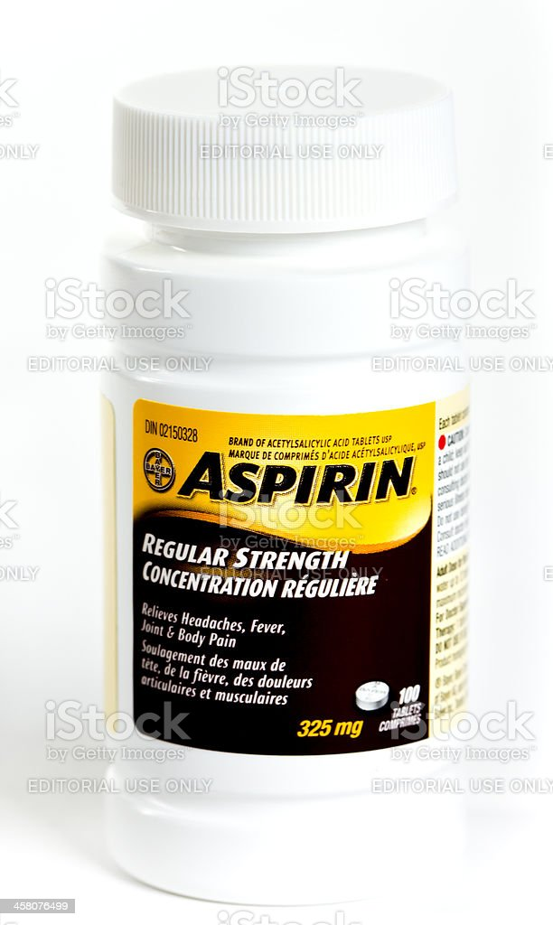 Bottle Of 325 Mg Bayer Aspirin Stock Photo More Pictures Of